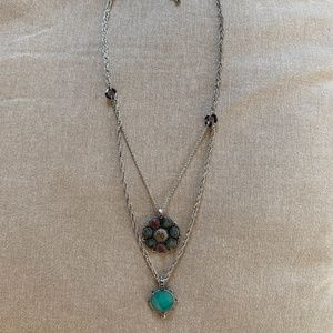 Lucky Brand Double Pendant Necklace